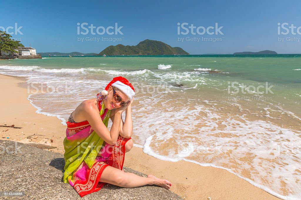 Christmas at tropics stock photo