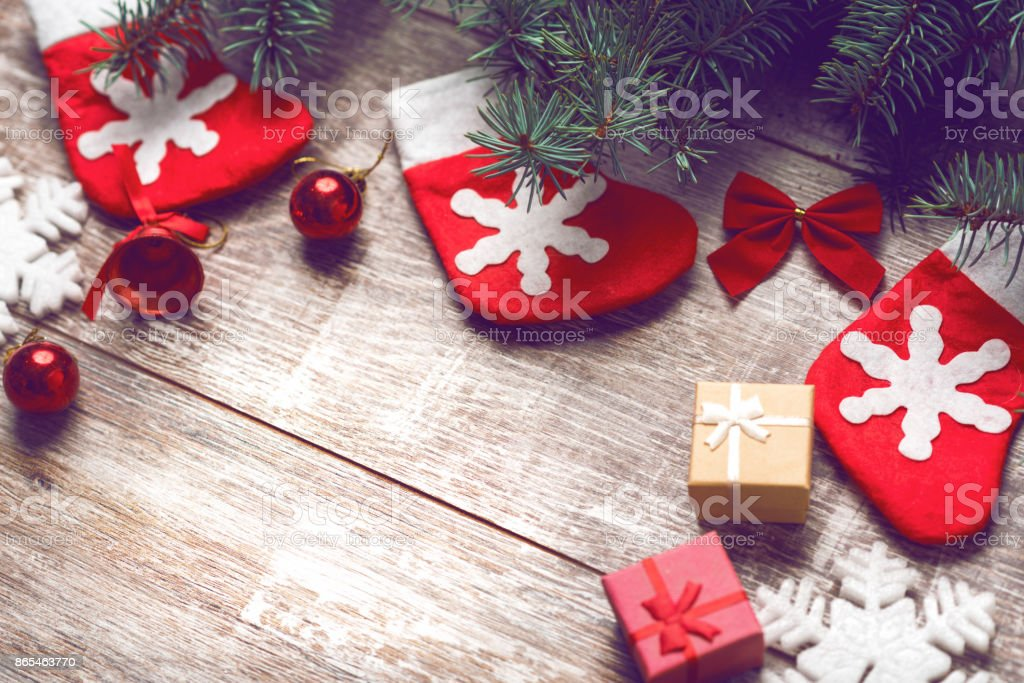 Christmas background 2018 stock photo