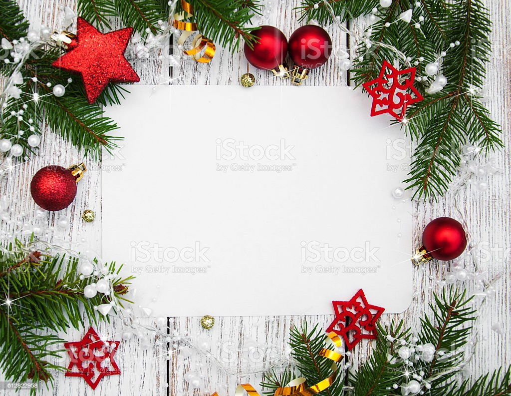 christmas background blank paper with decoration stock photo more