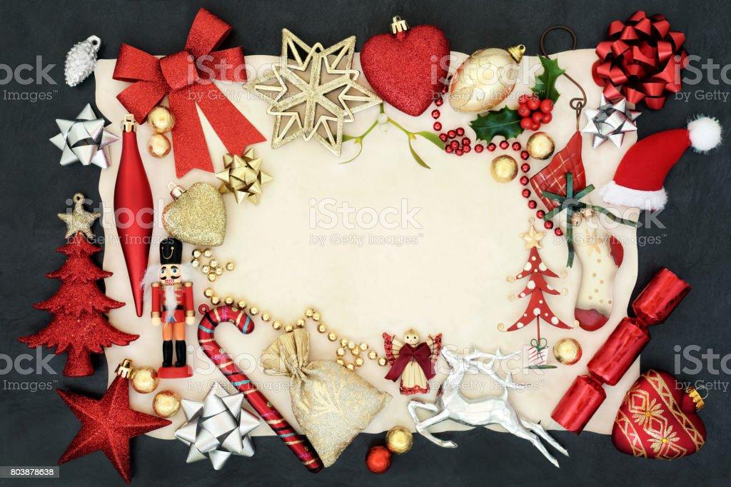 Christmas Background Border stock photo