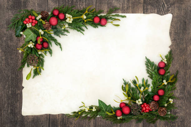 Christmas Background Border stock photo