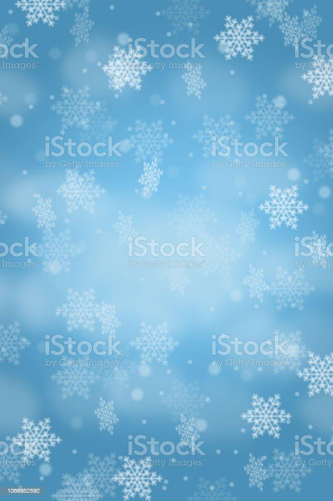 Christmas Background Card Pattern Snow Snowflakes Portrait
