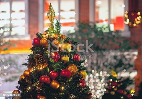 1034181324 istock photo Christmas background; Christmas decorations 1077403620