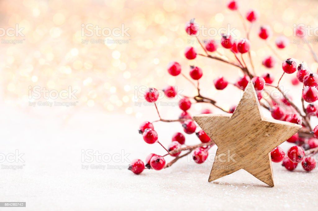 Christmas background. Christmas star and santa hat. Greeting card. royalty-free stock photo