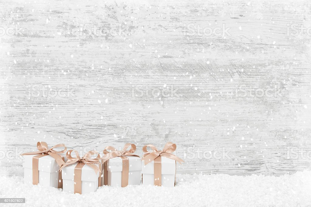 Christmas Background & Gift Boxes foto stock royalty-free