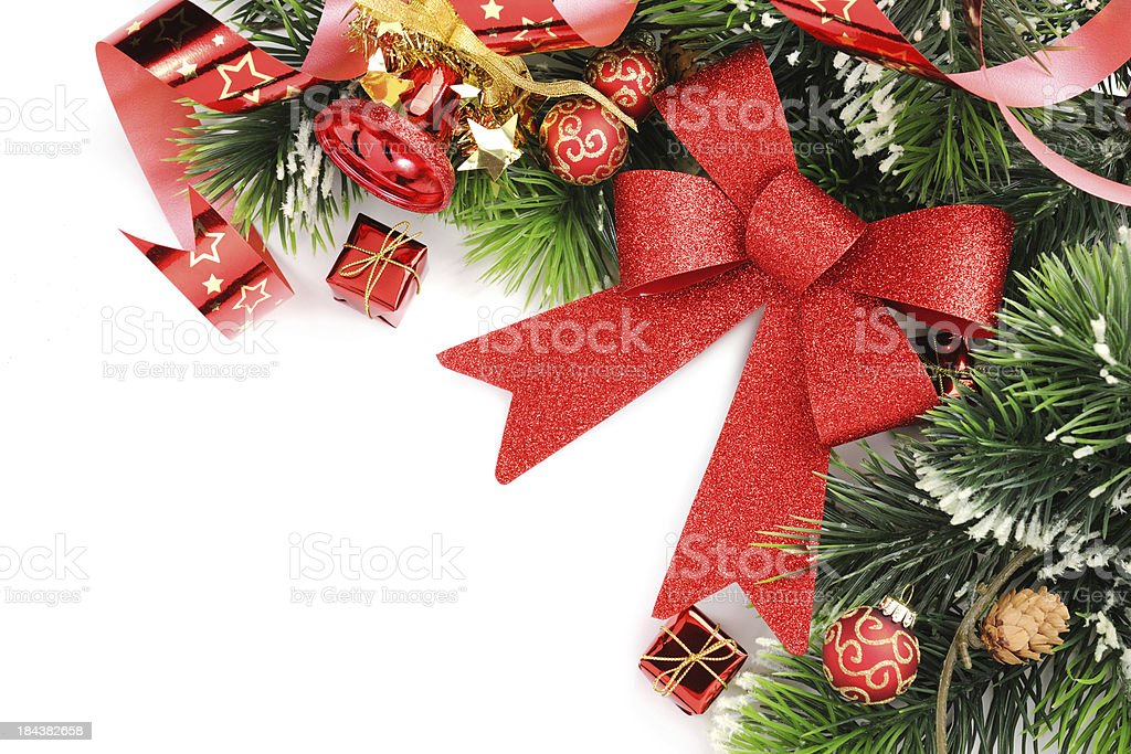 Christmas background in red,green and gold royalty-free stock photo