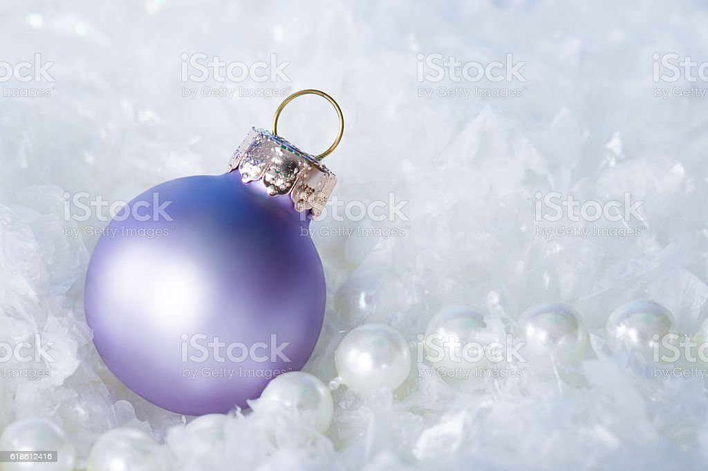 Christmas background in white,purple and silver stock photo