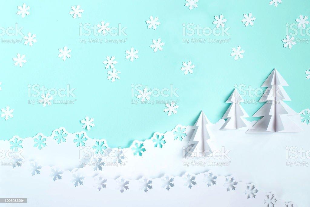 Weihnachten Hintergrund Papier Mit 3d Weihnachtsbaum Und ...