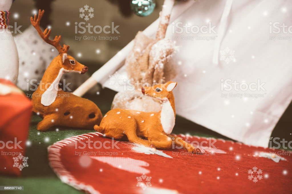 Christmas background material stock photo