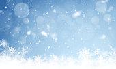 Snowfall winter Backdrop