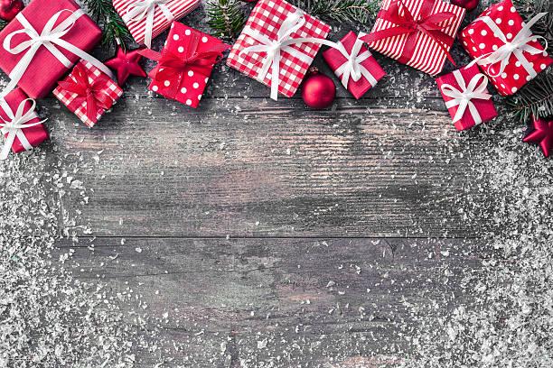 weihnachten hintergrund - gutschein weihnachten stock-fotos und bilder