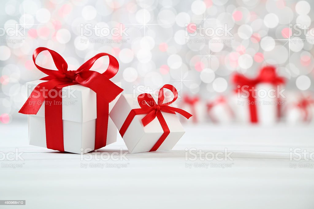 christmas background gifts 2015 Stock Photo