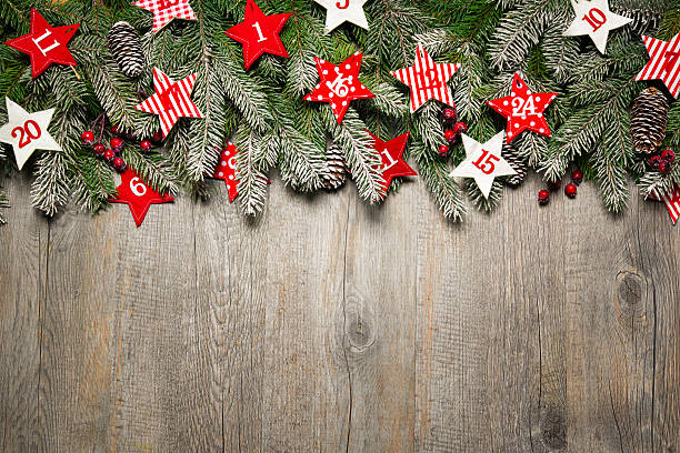 weihnachten hintergrund - adventskalender stock-fotos und bilder