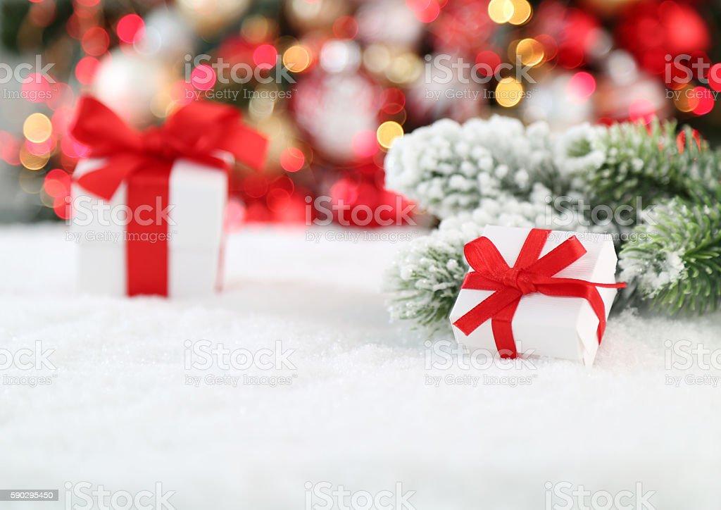 Рождественский фон  Стоковые фото Стоковая фотография