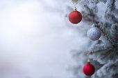 Christmas decoration on the Christmas tree.
