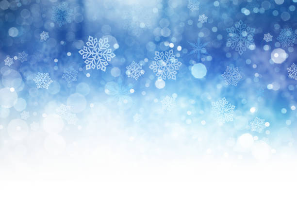 christmas background - snowflake background stock pictures, royalty-free photos & images