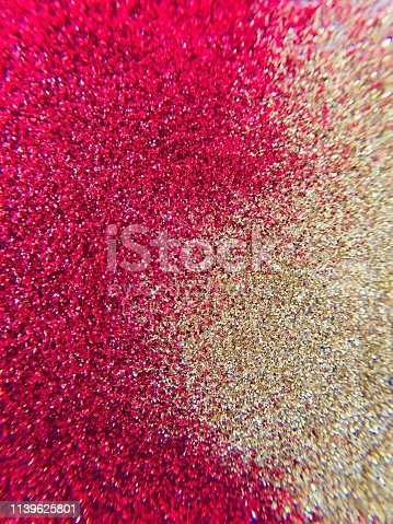 istock Christmas Background - pink and gold glitter sparkling 1139625801