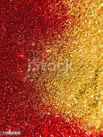 istock Christmas Background - red and gold glitter sparkling 1139625828
