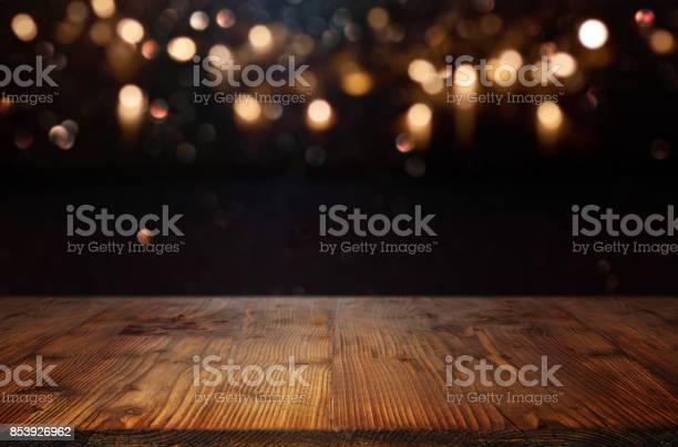 Christmas Background With Bokeh Effects - Fotografie stock e altre immagini di Astratto