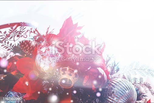 1083023980 istock photo Christmas Background with bokeh light; Blurred Xmas background 1162452990