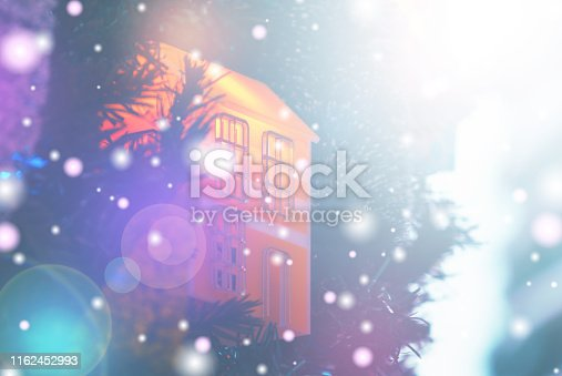 1083023980 istock photo Christmas Background with bokeh light; Blurred Xmas background 1162452993