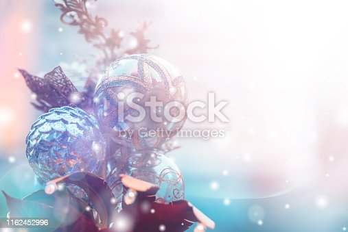 1083023980 istock photo Christmas Background with bokeh light; Blurred Xmas background 1162452996