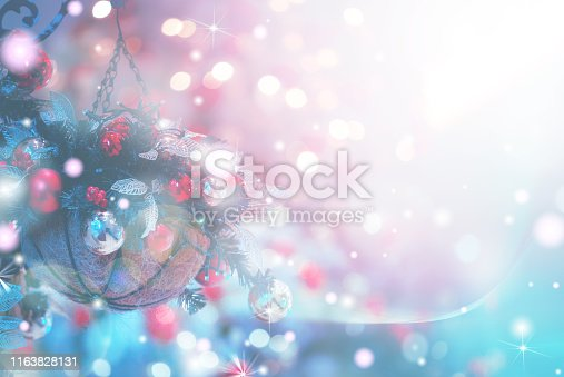 1083023980 istock photo Christmas Background with bokeh light; Blurred Xmas background 1163828131