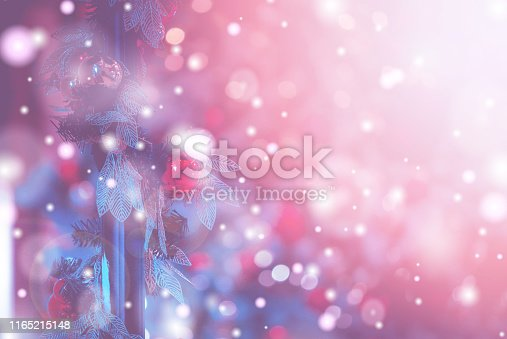 1083023980 istock photo Christmas Background with bokeh light; Blurred Xmas background 1165215148