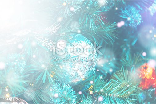 1083023980 istock photo Christmas Background with bokeh light; Blurred Xmas background 1166511244