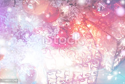 1083023980 istock photo Christmas Background with bokeh light; Blurred Xmas background 1166511245