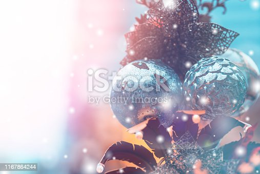 1083023980 istock photo Christmas Background with bokeh light; Blurred Xmas background 1167864244