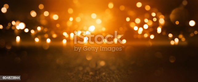 istock Christmas background with bokeh 604823844