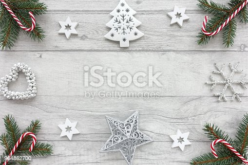Christmas Background With Christmas Decoration Stock Photo & More Pictures of Above