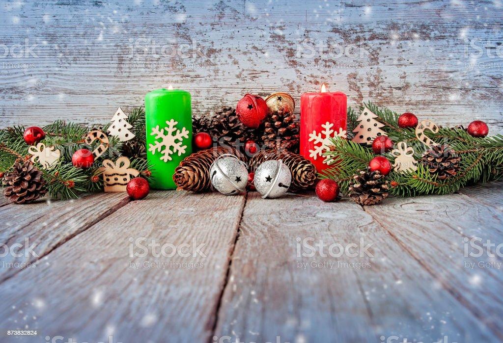 Fondo De Navidad Con Ramas De árbol De Navidad En Una