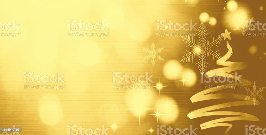 Christmas background with Christmas tree stock photo