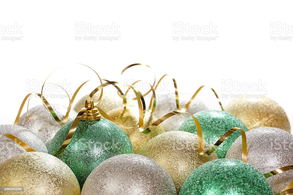 Christmas background with colorful balls. royalty-free stock photo