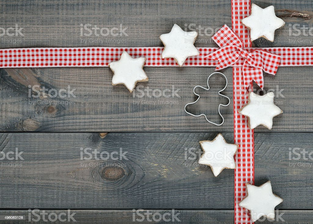 Christmas background with cookies stock photo