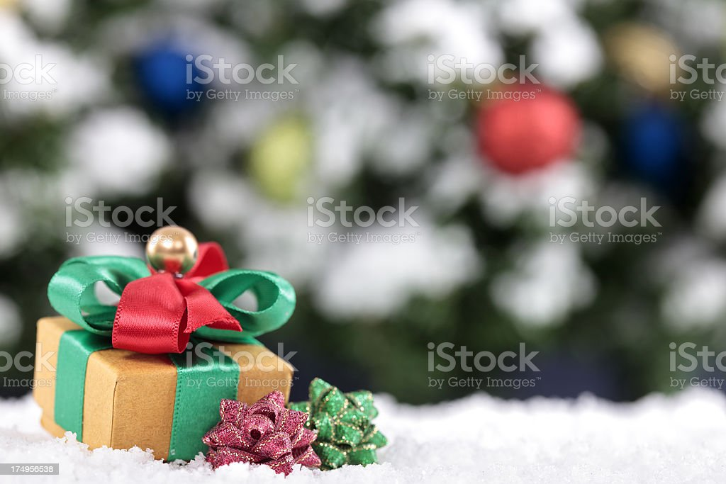 Christmas background with copy space stock photo