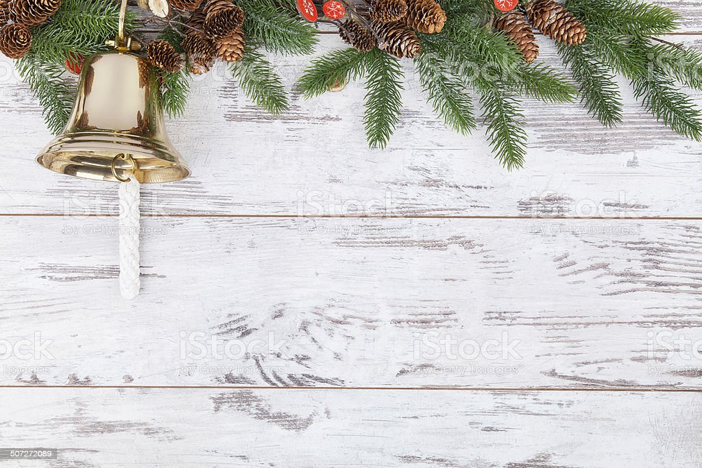 Christmas background with copyspace stock photo