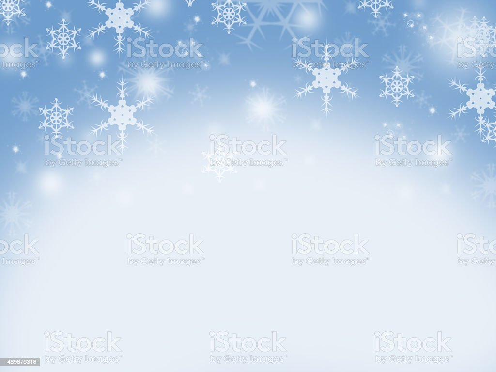 Christmas background with crystalline snowflakes stock photo