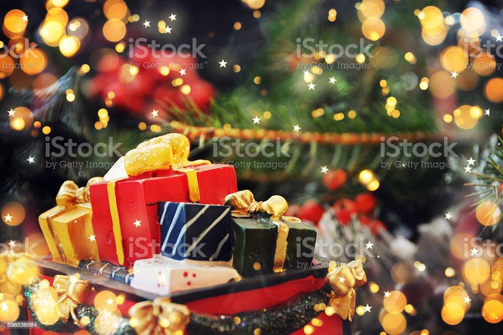 Fond de Noël avec décoration photo libre de droits
