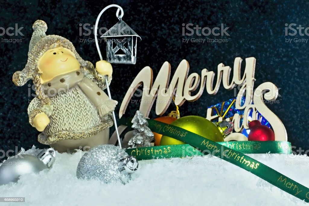Christmas background with decorations. royalty-free stock photo