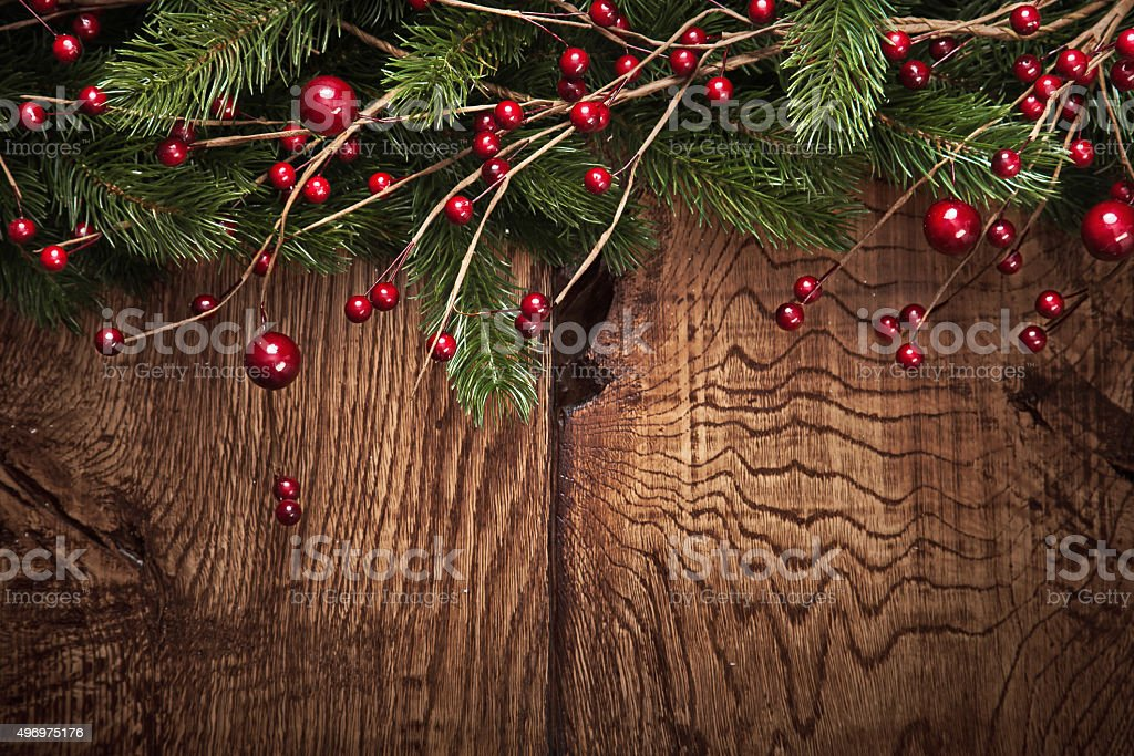 Christmas background with fir branches stock photo