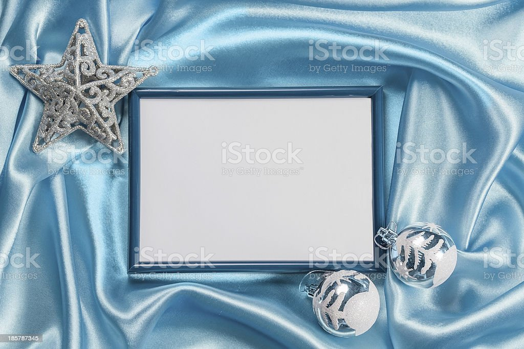 Christmas background with frame for photo royalty-free stock photo