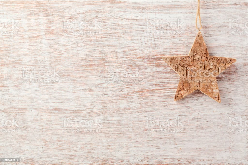 Christmas Background With Rustic Star Decoration Stock Photo Download Image Now Istock