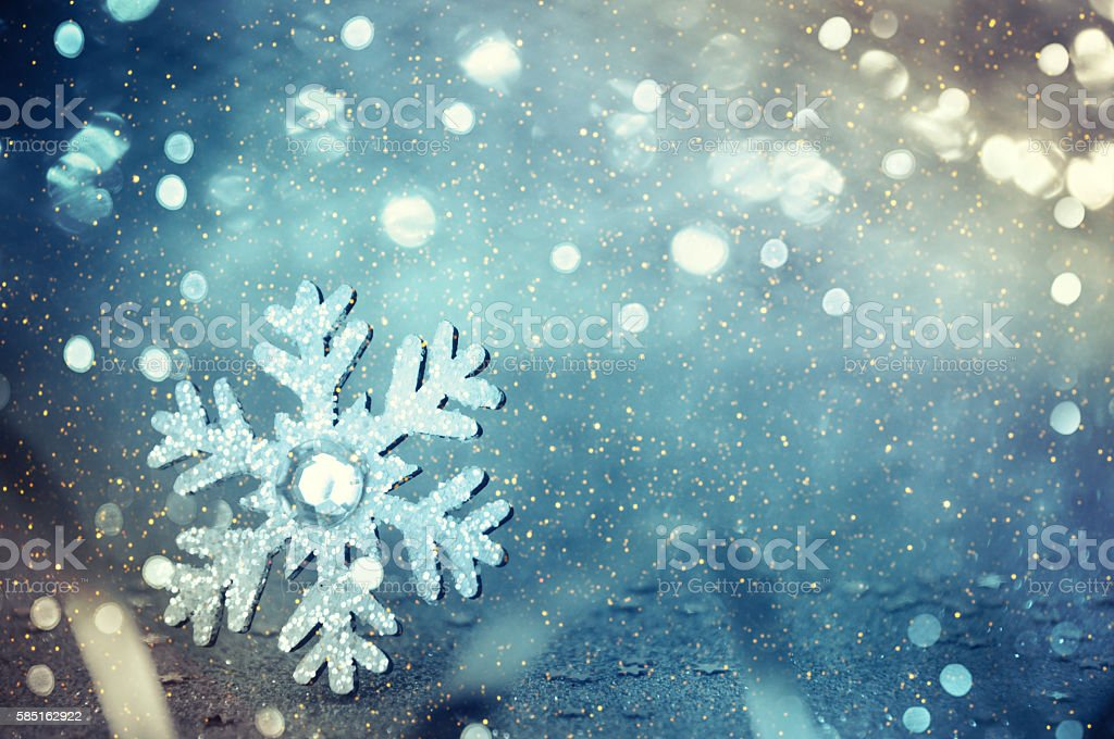 Christmas background with snowflake stock photo