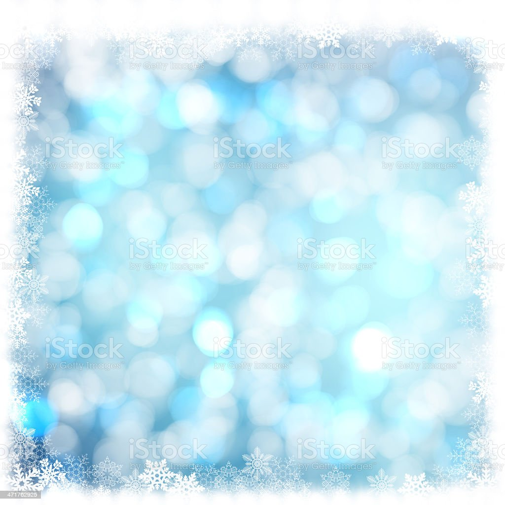 Christmas background with snowflakes in winter royalty-free stock photo