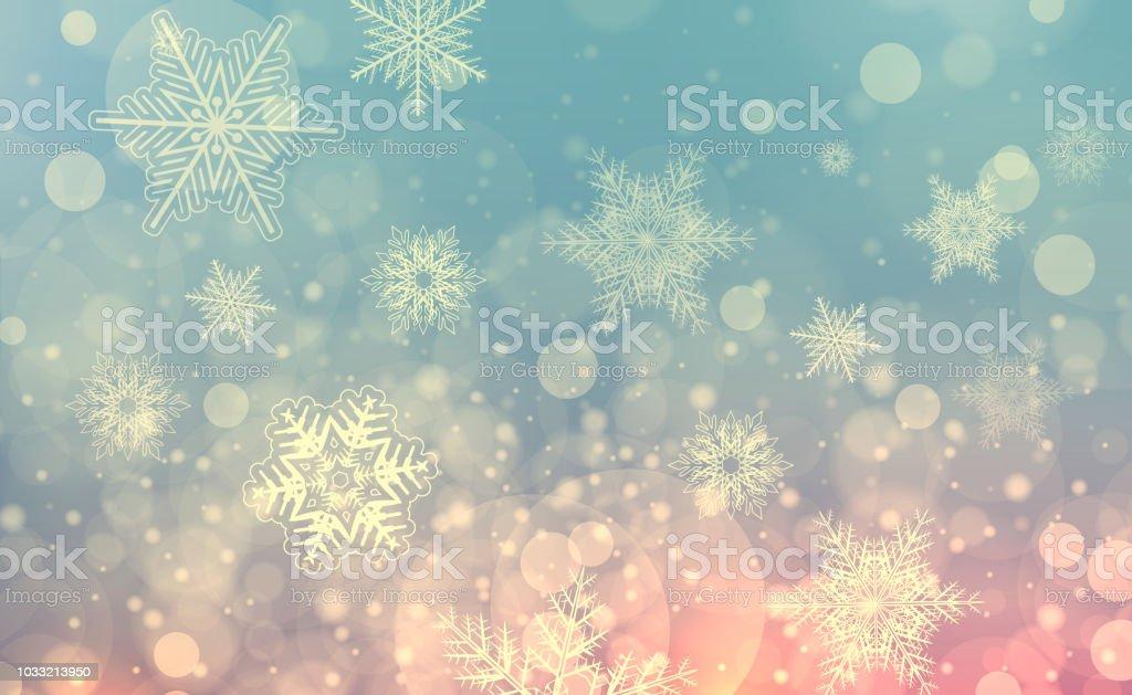 雪の結晶クリスマス背景 ロイヤリティフリーストックフォト