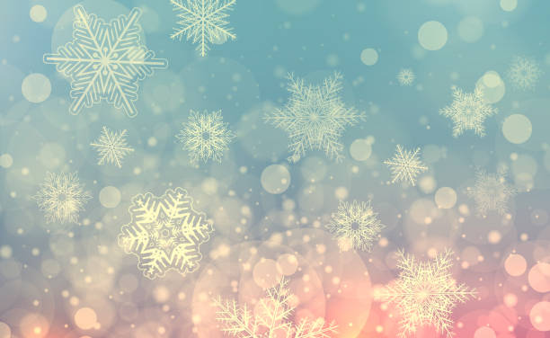 christmas background with snowflakes - snowflake background stock pictures, royalty-free photos & images