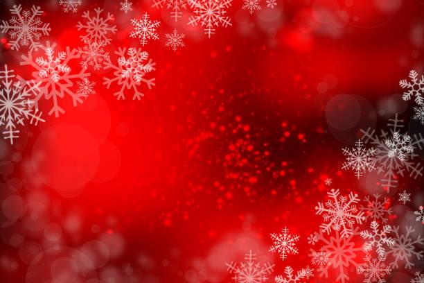 クリスマスの背景に雪の結晶 ストックフォト